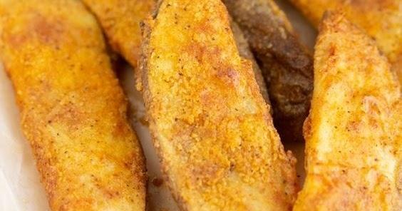 Air Fryer Potato Wedges (KFC Copycat)   Food Restock Air Fried Kfc Potato Wedges