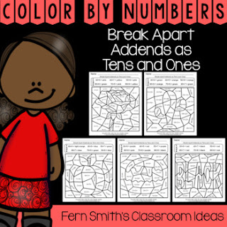 2nd Grade Go Math 4.3 Break Apart Addends as Tens and Ones Color By Numbers