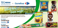 Logo Nestlè e Carrefour: vinci buoni spesa da 150€ e da 3.000€