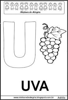 Alfabeto cartaz letra U