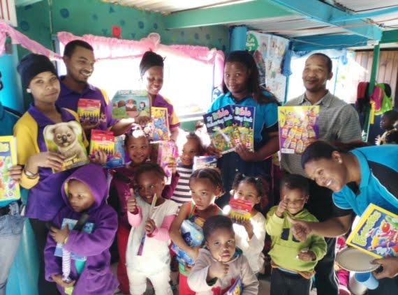 Hollywoodbets Mossel Bay team at Mickey Mouse Creche - Mandela Day - 67 Minutes