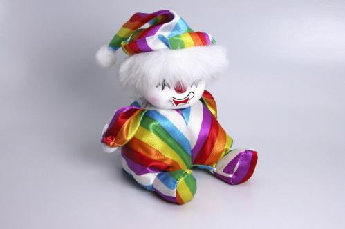 #PraCegoVer: Fantoche de palhaço.