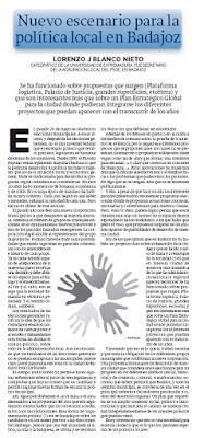 Política municipal en Badajoz