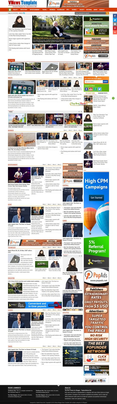 VNews - Blogger News Template