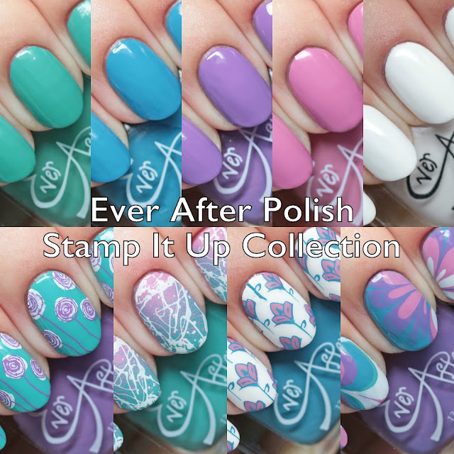 Ever After Polish Stamp It Up Collection Pastel Set