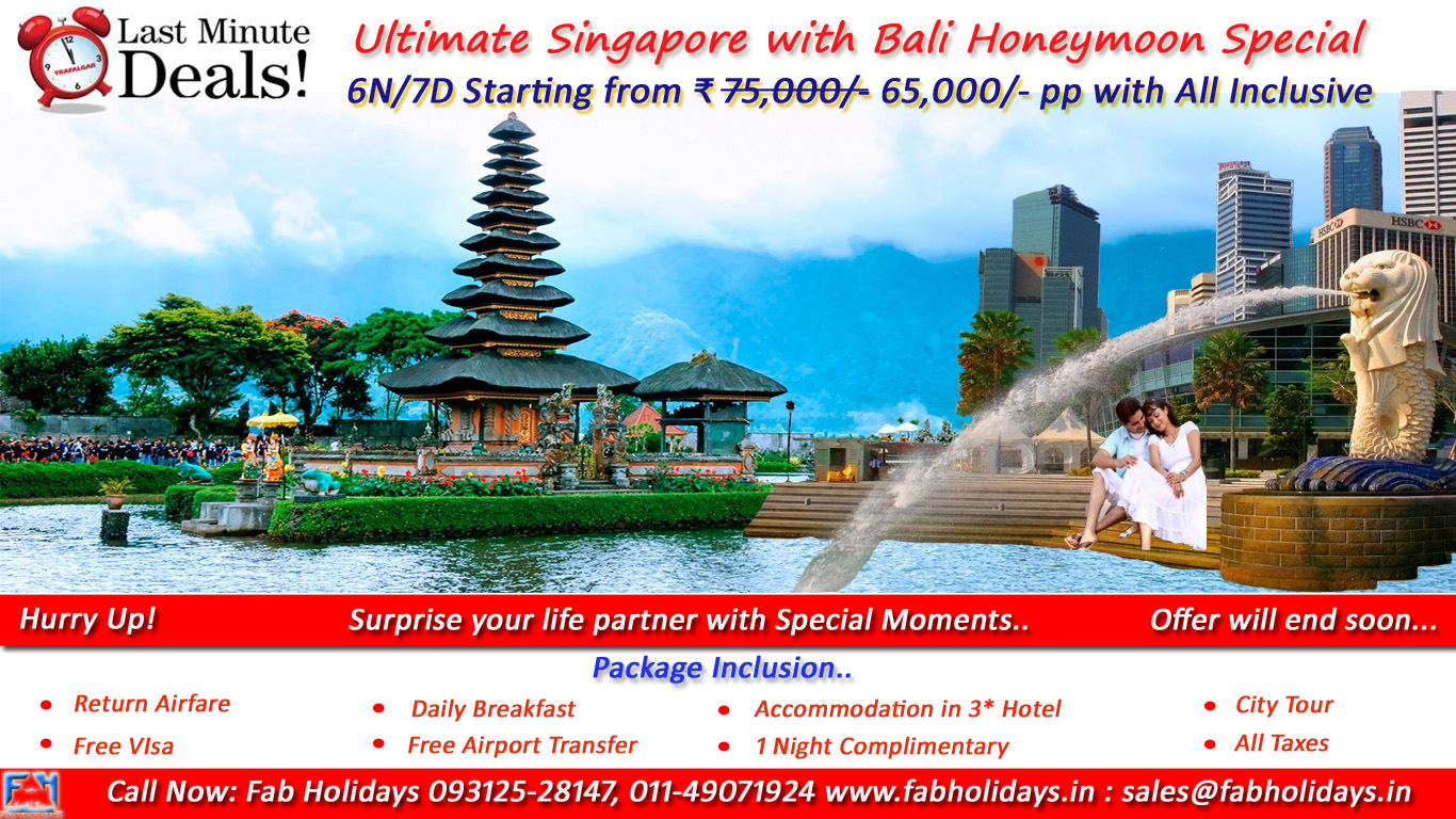Ultimate Singapore Bali Tour Packages