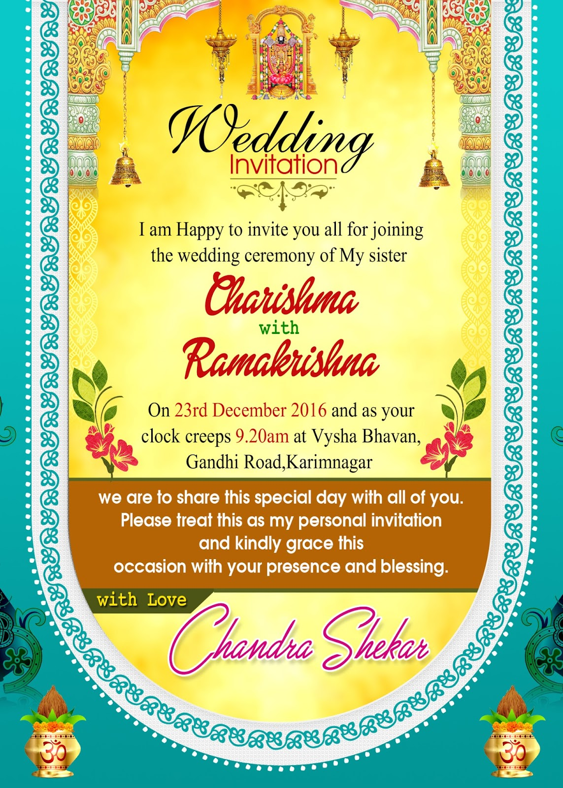Indian wedding invitation wordings psd template free for brothers indian wedding card design psd template free downloads for brothers and sisters stopboris Image collections