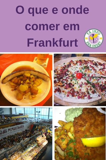 O que e onde comer em Frankfurt