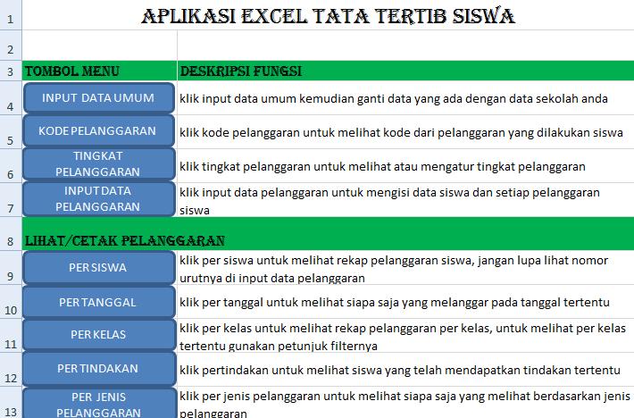 Download Aplikasi Tata Tertib Sekolah Lengkap Dengan Fiture Rekap Grafik Plus Surat Menyurat