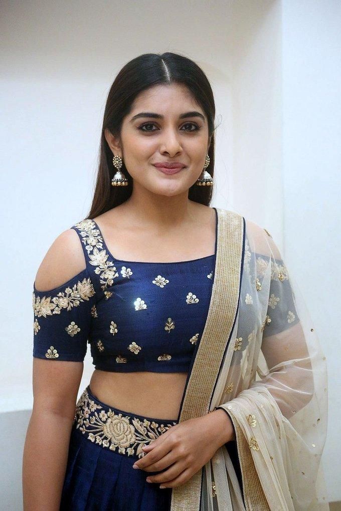 Actress Niveda Thomas at Jai Lava Kusa Theatrical Trailer Launch Photos