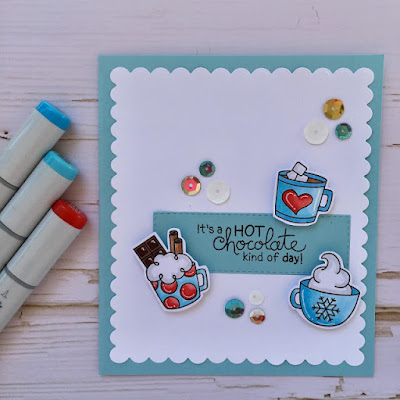 It's hot chocolate time by Meghan features Cup of Cocoa by Newton's Nook Designs; #newtonsnook