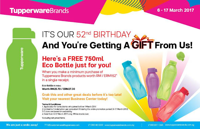 Tupperware Brands Malaysia Free Eco Bottle Promo