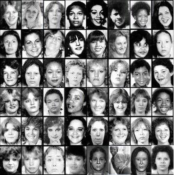 Foto de várias vítimas do serial killer Gary