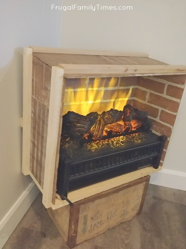testing electric fireplace box