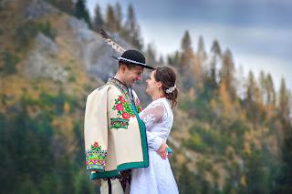 Kasia i Wojtek sesja jesienna w Tatrach