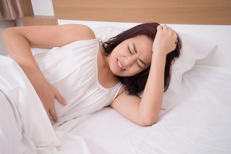 It's not unusual for women to experience it before they get their period or during pregnancy.