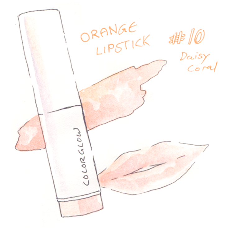 Makeup Watercolor Illustration Korean Brand Innisfree Lipstick Colorglow