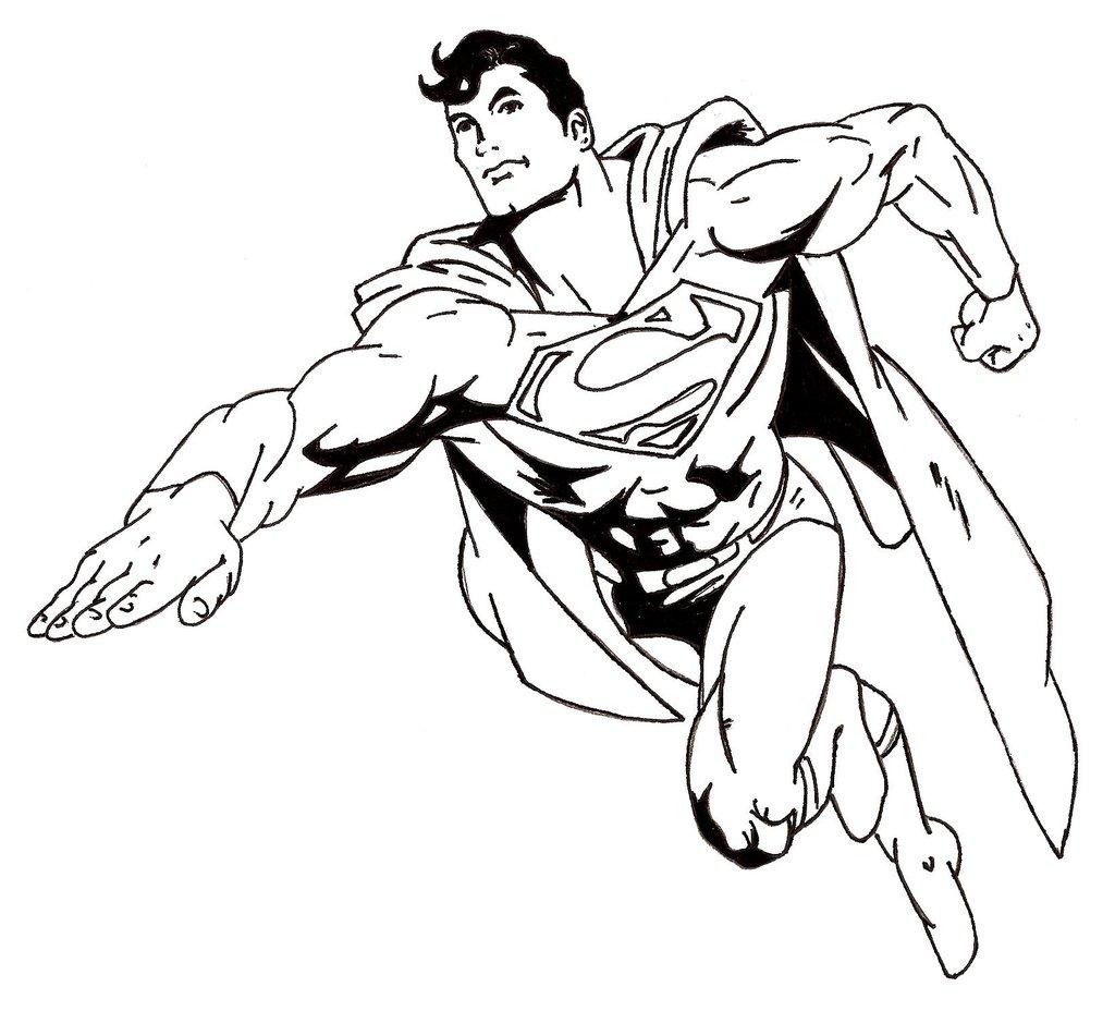 10 Mewarnai Gambar Superman