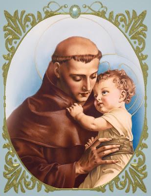 San Antonio Sosteniendo en Sus Brazos al Niño Jesus
