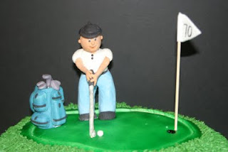 This Was A Birthday Cake For Gentleman Turning 70 Year Old That Is Quite An Accomplishment Golf Comes With Everything Needed Cart