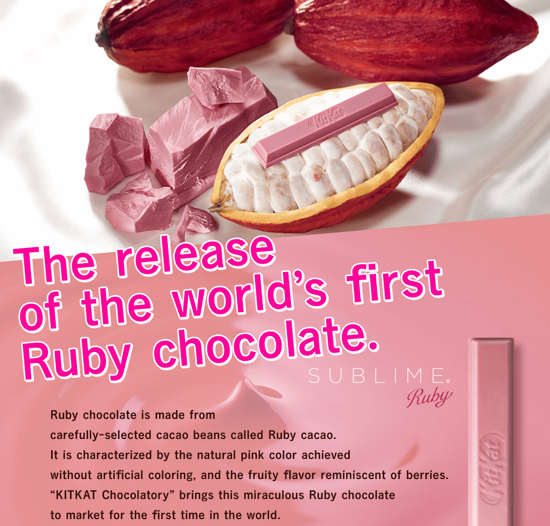 World's first ruby chocolate