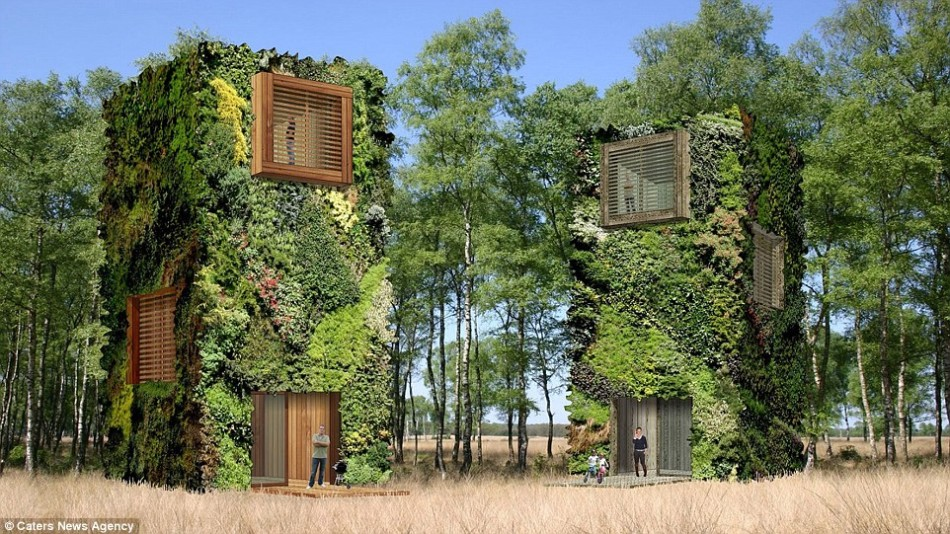 Hundred percent green city water and electricity self sufficiency
