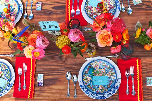 mesa posta festa mexicana