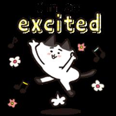 Moving![mayu-neko]cute cat Sticker_EN
