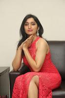 Sakshi Kakkar in Red Legsplit Sleeveless Gown at Dare movie Press meet ~  Exclusive 044.JPG