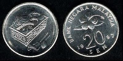 Malaysia 20 Sen (1989+) 2005 Coin