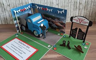 Geschenkbox Explosionsbox Überraschungsbox Trucker Countryfestival