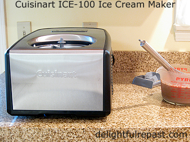 Chocolate Coffee Gelato - Cuisinart Giveaway ICE-100 Compressor Ice Cream Maker / www.delightfulrepast.com