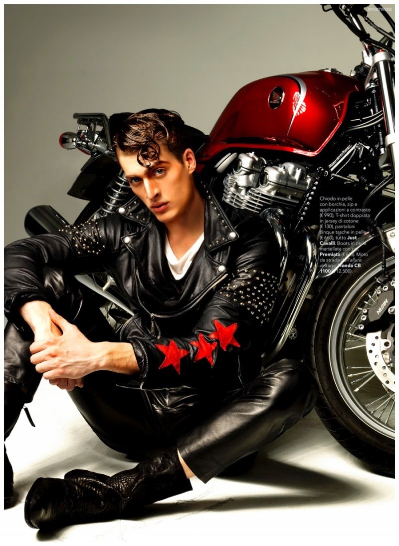 Vincenzo Amato Models Moto Styles For Sportweek Fashion Shoot Inyim Media Music Fashion Editorials And Alt Pop Culture