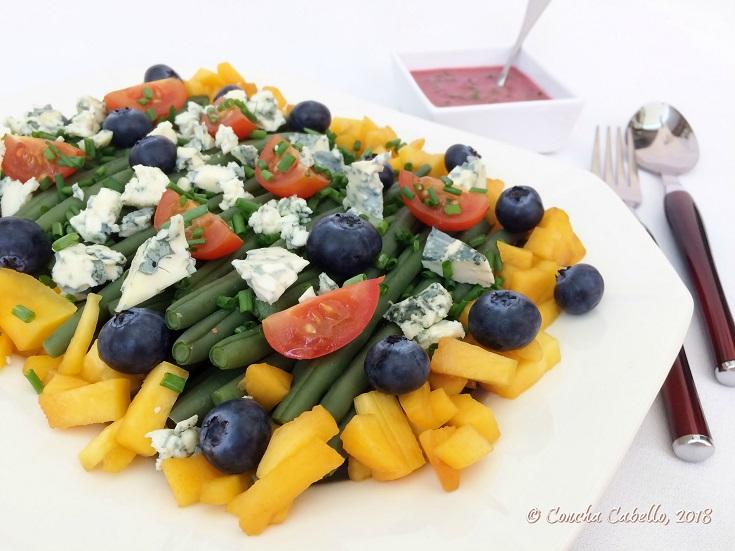 ensalada-judías-queso-azul