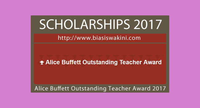 Alice Buffett Outstanding Teacher Award 2017