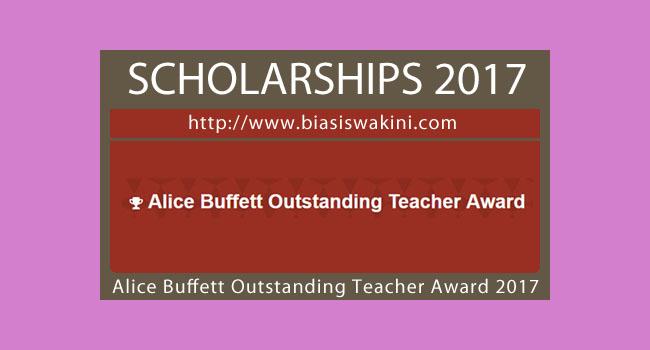 Alice Buffett Outstanding Teacher Award 2017