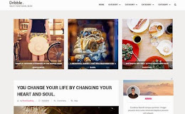 Dribble Simple blogger template