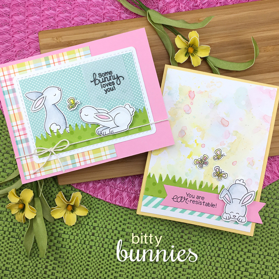 Bunny Cards by Jennifer Jackson | Bitty Bunnies Stamp Set and die set by Newton's Nook Designs #newtonsnook