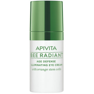apivita, bee radiant, age defense, eye cream, orange stem cells, contorno de ojos, lirio blanco,