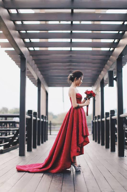 red good quality gown