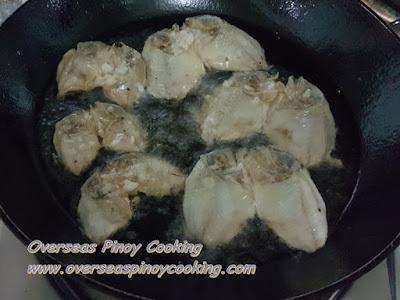 Danggit Lamayo - Frying Procedure