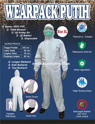 Wearpack Putih / APD Non Medis (MURAH)