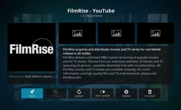 FilmRise - YouTube: Addon Movie  Kodi Terbaik