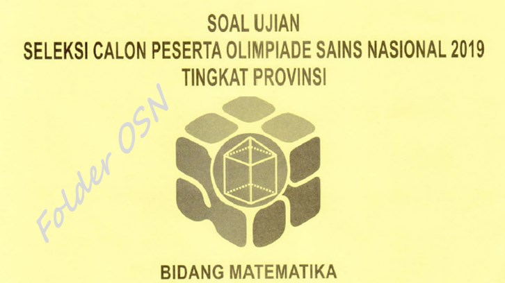Soal OSP Matematika SMA 2019