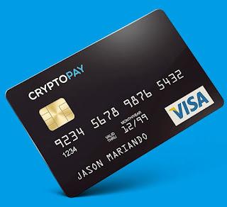 شرح بطاقة فيزا CryptoPay صالحة لتفعيل بايبال