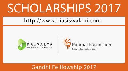 Gandhi Fellowship 2017