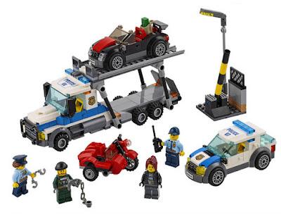 JUGUETES - LEGO City  60143 Atraco al transporte de coches  2017 | Piezas: 403 | Edad: 5-12 años  Comprar en Amazon España