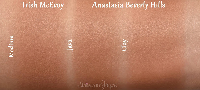 Anastasia Beverly Hills Contour Refill Matte Powder Java Clay Swatches
