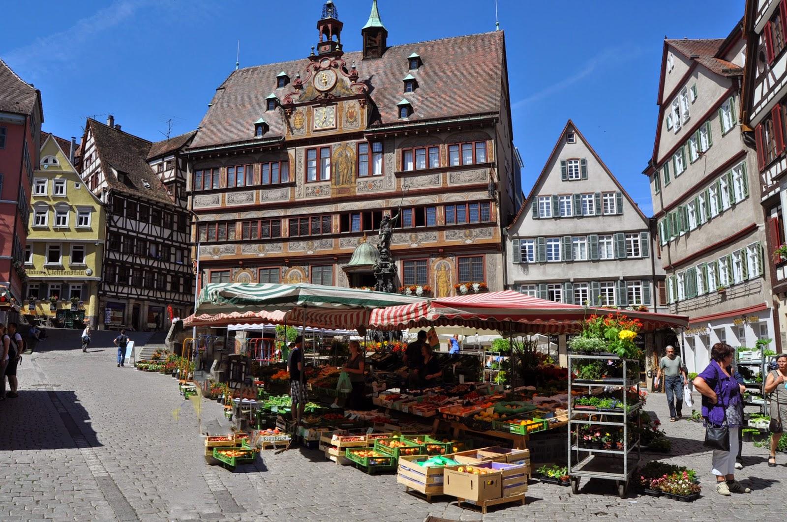 Fotos de la Plaza del Ayuntamiento en Tubingen