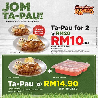 Kenny Rogers ROASTERS Malaysia Jom Ta-pau Discount Promo